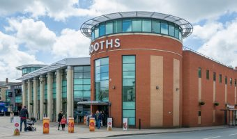 Photograph of Booths supermarket on New Market Street in Chorley, Lancashire.