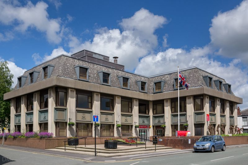 Photo of Chorley Council Civic Offices on Union Street in Chorley, Lancashire.