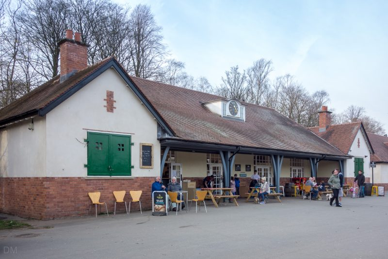 Photograph of the Pavilion Cafe at Heaton Park, Manchester. Located next to the Boating Lake.