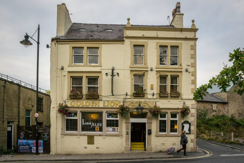 Photograph of the Golden Lion, a pub on Moor Lane in Lancaster city centre. It is near The Dukes theatre.