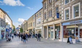 Photo of Market Street and the Marketgate Shopping Centre in Lancaster.