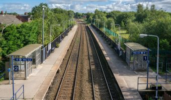 Photo of Lostock Hall Train Station at Lostock Hall, near Preston.