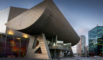 Photo of The Lowry, a theatre and gallery at Salford Quays, Greater Manchester.