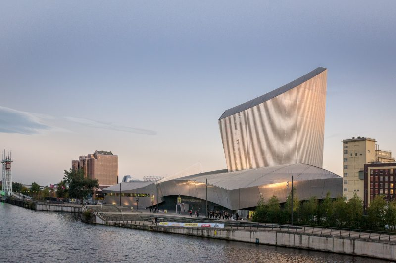 Photograph of the Imperial War Museum North at Salford Quays, Greater Manchester.