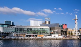 Photograph of The Lowry theatre at Salford Quays.