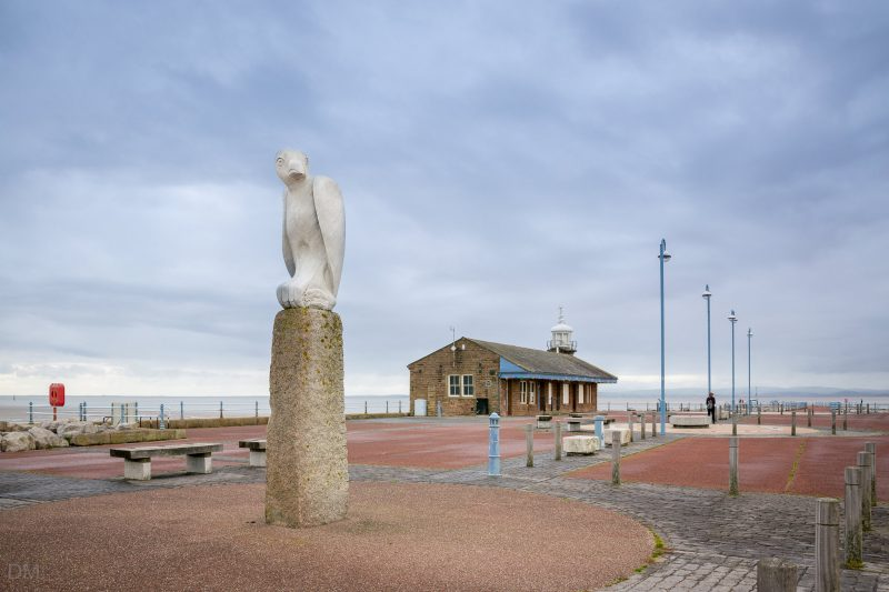 Photograph of Mythical Bird by Gordon Young at the Stone Jetty, Morecambe Promenade.