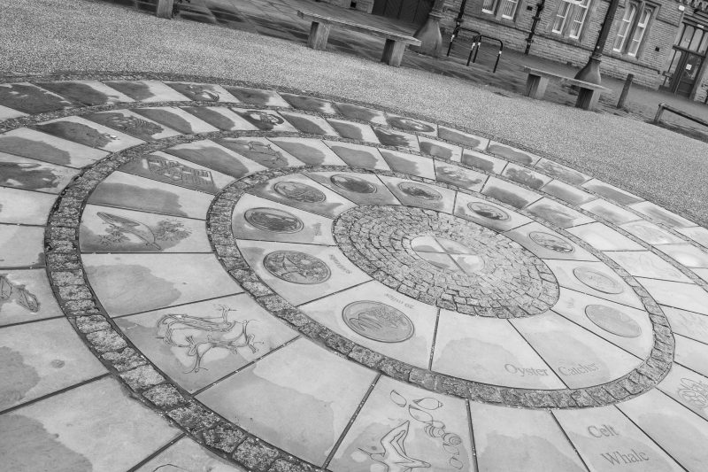 Photograph of Destination Morecambe, a piece of public art outside The Platform/Morecambe Visitor Information Centre.