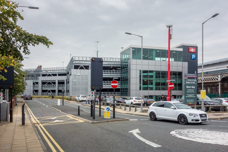 Photograph of the multi-storey car park at Preston Train Station, Preston, Lancashire.
