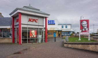 Photograph of Reel Cinema Morecambe and KFC. Located on Central Drive, Morecambe.