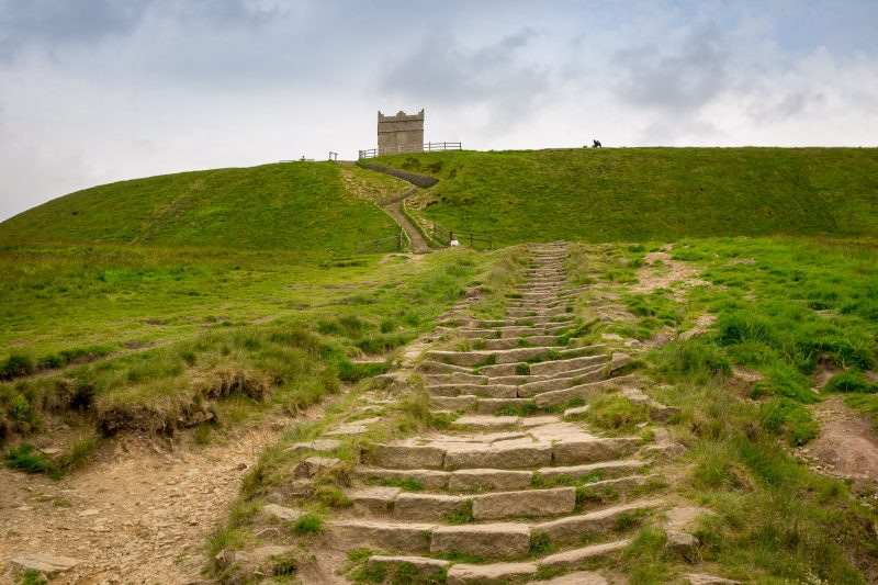 Photograph showing the path to Rivington Pike.