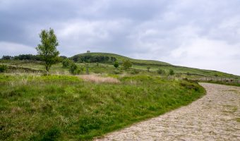 Photo showing view of Rivington Pike from Roynton Road, Rivington.