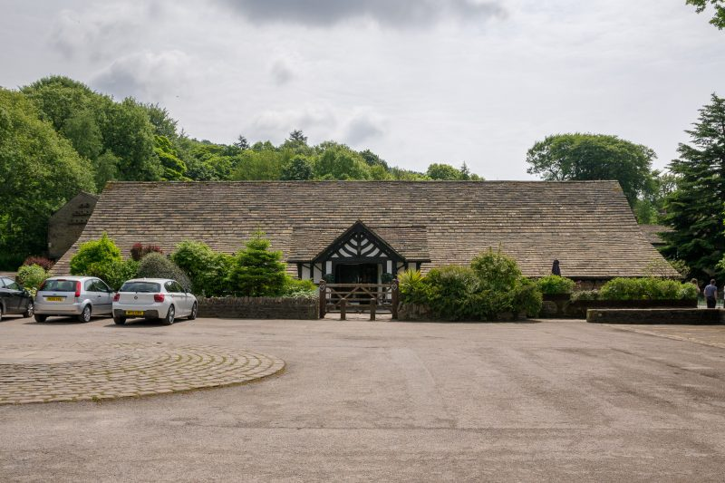 Photograph of Rivington Hall Barn, a Grade II listed building in Rivington. It is thought to have date back to the ninth century. Today it is a popular wedding and event venue.