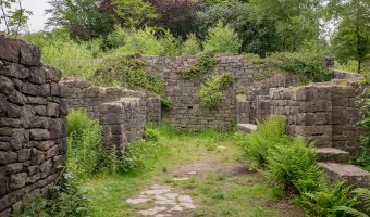 Photograph of ruins at Rivington Terraced Gardens.