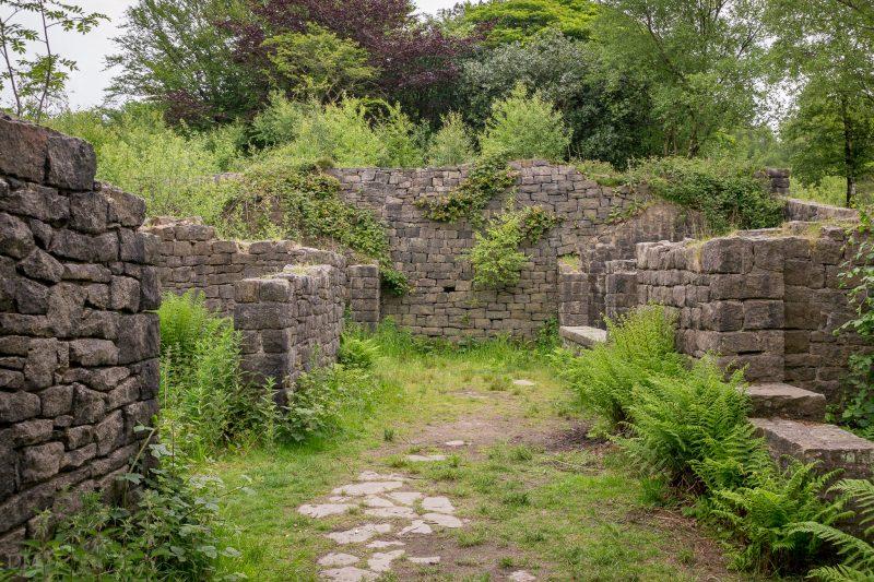 Photograph of ruins at Rivington Terraced Gardens.