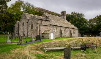 Photograph of St Peter's Church in Heysham, Lancashire.