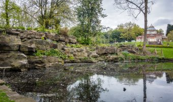 Photograph of the Pulham Rock Feature at Mesnes Park, Wigan.
