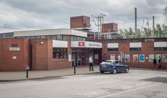 Photograph of entrance to Wigan North Western Train Station, Wigan, Greater Manchester.