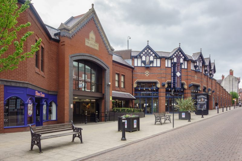 Photograph of the Galleries Shopping Centre in Wigan. Taken near entrance on Market Street.
