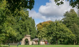 Photograph of North Lodge Entrance to Worden Park, Leyland, Lancashire.