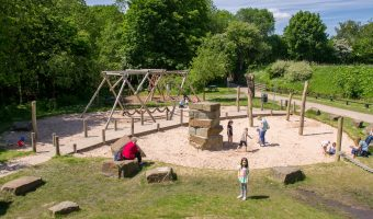 Photograph of the playground at Yarrow Valley Country Park in Chorley, Lancashire.