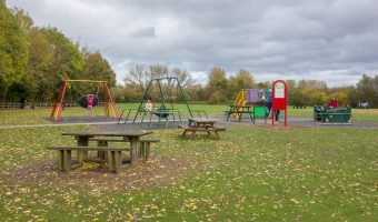Photograph of the playground at Pennington Flash Country Park in Leigh.