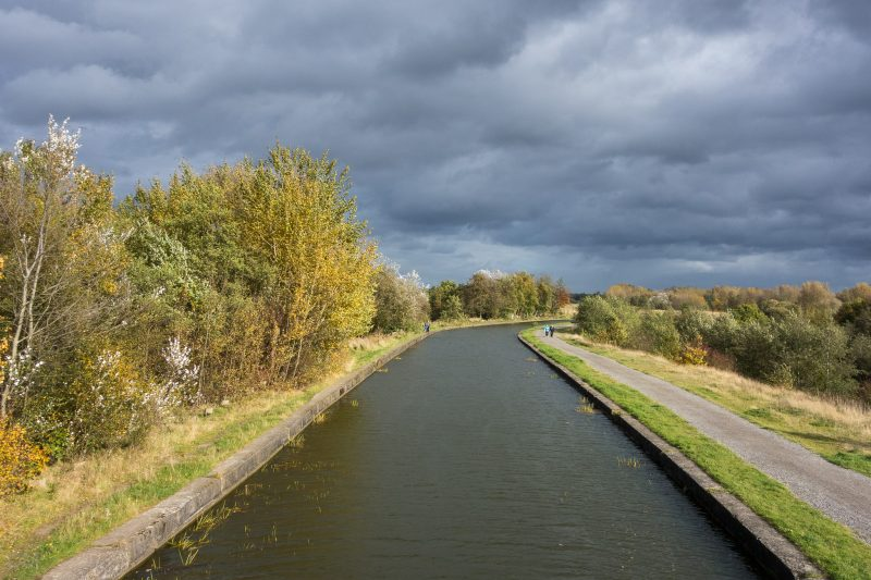 Photo of the Leeds and Liverpool Canal. Taken at Pennington Flash Country Park, Leigh, Greater Manchester.