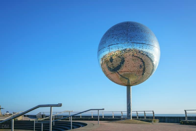 Photograph of They Shoot Horses, Don't They? The large mirror ball is located at the Great Promenade Show in Blackpool, Lancashire.