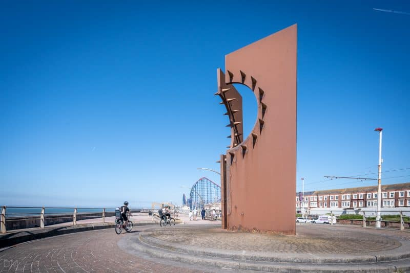 Desire sculpture by Chris Knight at Great Promenade Show in Blackpool, Lancashire
