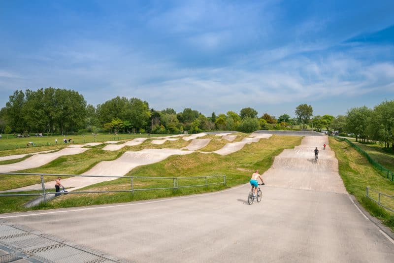Photo of the BMX Track at Stanley Park, Blackpool.