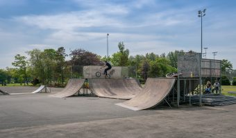 Photo of the Skate Park at Stanley Park, Blackpool.