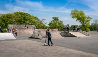 Photograph of the Skate Park at Stanley Park in Blackpool, Lancashire.