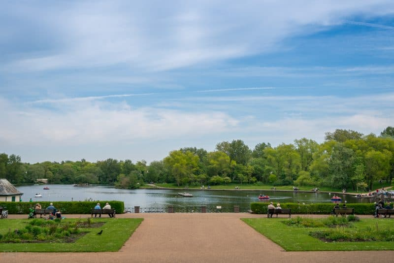 Photo of the Boating Lake at Stanley Park, Blackpool. View from the Lake Terrace.