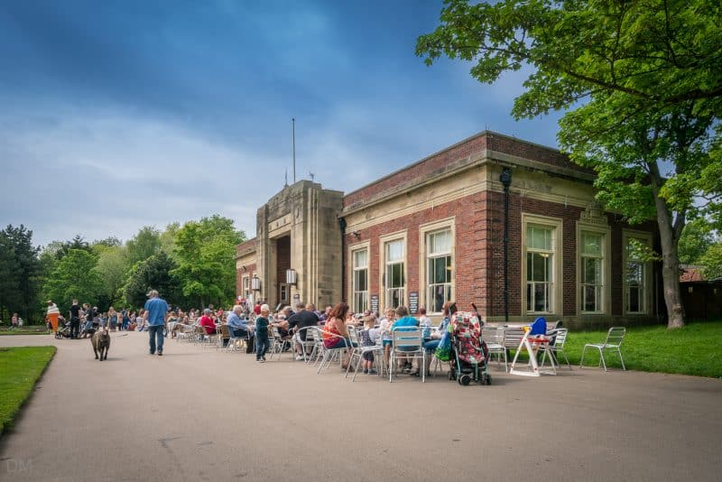Photo of the Art Deco Cafe at Stanley Park, Blackpool.