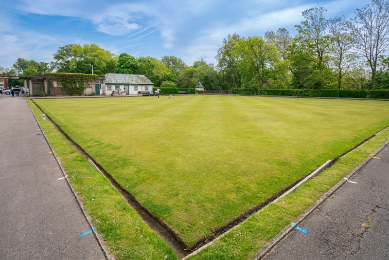 Photo of a bowling green at Stanley Park, Blackpool.