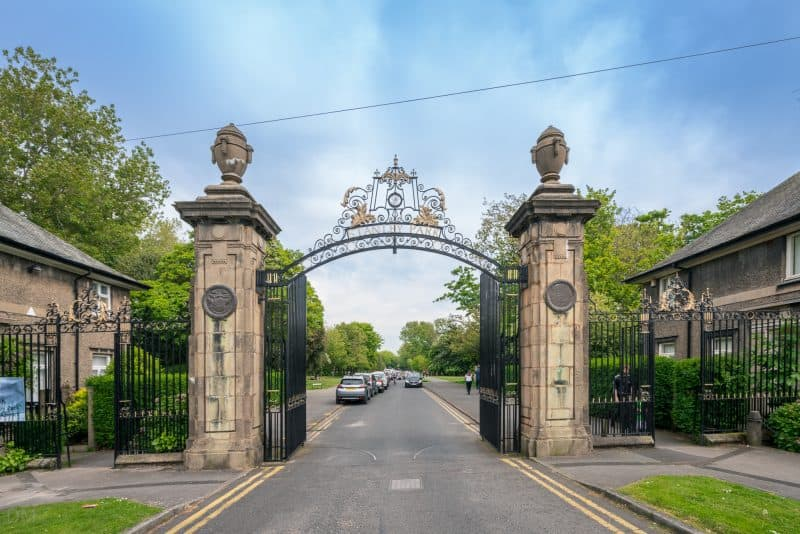 Main entrance to Stanley Park, Blackpool. Located at juction of West Park Drive and North Park Drive.
