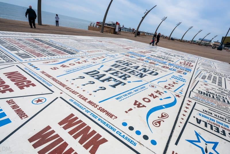 Photo of the Comedy Carpet, Blackpool, Lancashire.