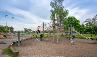 Photo of the play area at Stanley Park in Blackpool.