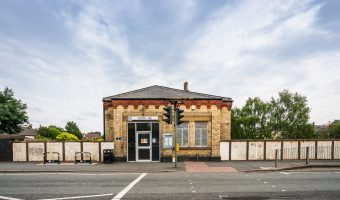 Photograph of ticket office at Swinton Train Station, Salford, Greater Manchester.