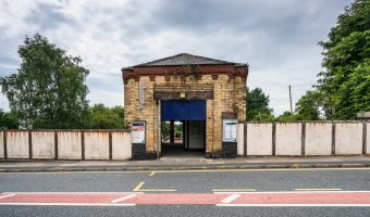 Photograph of entrance to Moorside Train Station, Swinton, Salford.