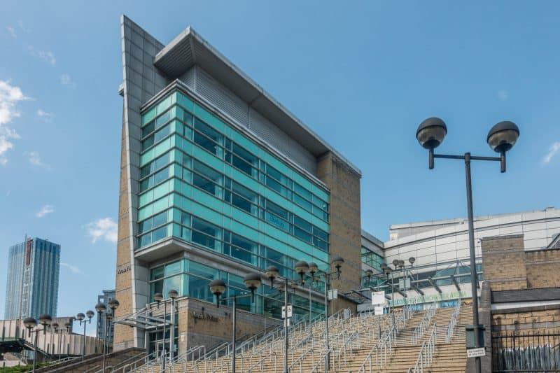 Manchester Arena entrance.