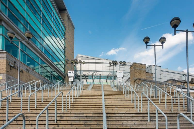 Steps leading to Manchester Arena.