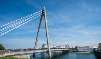 Photograph of Marine Way Bridge and Marine Lake, Southport, Merseyside.