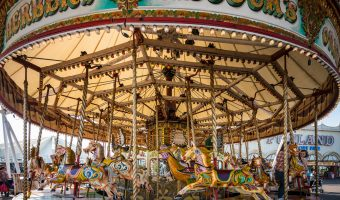Photograph of Silcock's Victorian Carousel at Southport Pier, Southport, Merseyside.