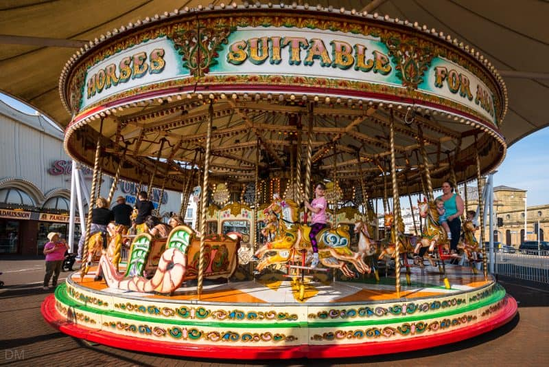 Photo of Silcock's Victorian Carousel at Southport Pier, Southport, Merseyside.