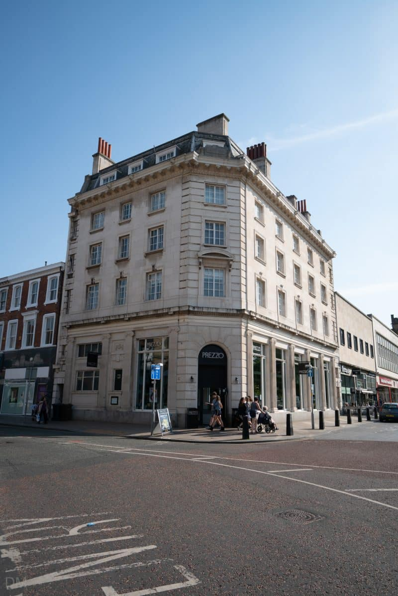 Photograph of Prezzo restaurant on Lord Street, Southport, Merseyside.