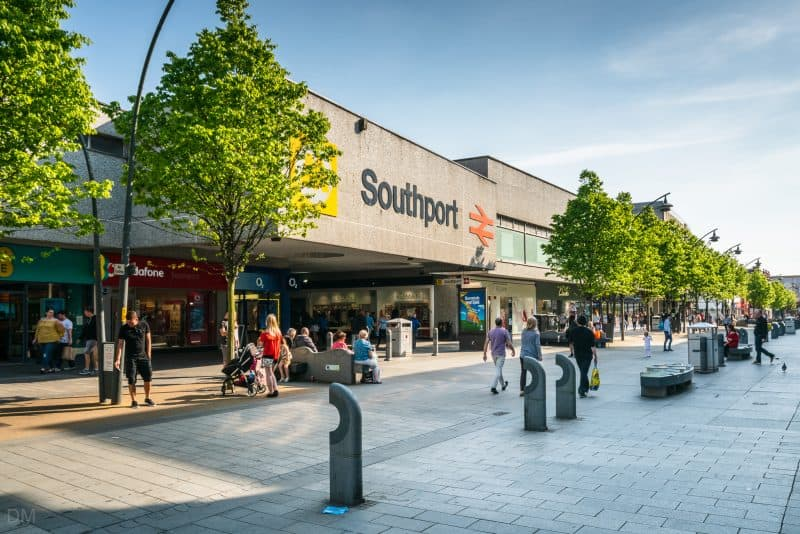 Photograph of Southport Train Station, Southport, Merseyside.