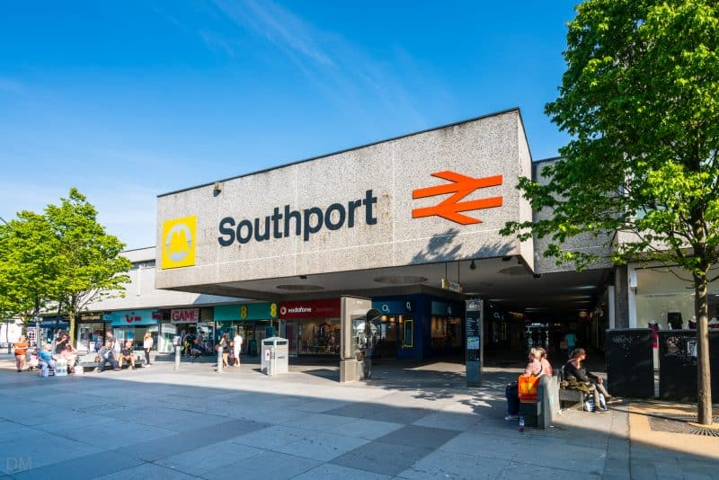 Photo of Southport Train Station entrance.
