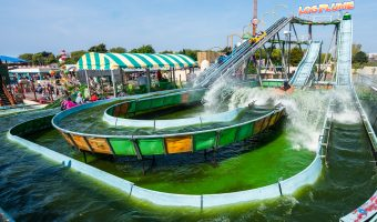 Photo of the Log Flume ride at Southport Pleasureland.