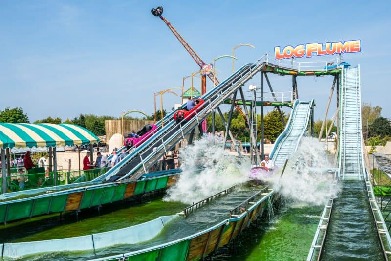 Photograph of the Log Flume at Southport Pleasureland.