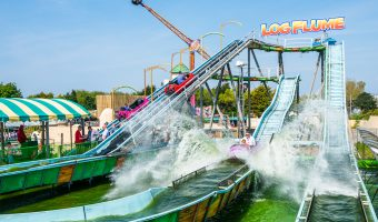 The Log Flume ride at Southport Pleasureland.